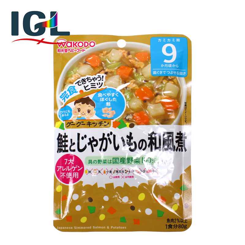 [Direct mail] japan wakodo food supplement infant nutrition noodles boiled potatoes salmon and vegetables 9 months