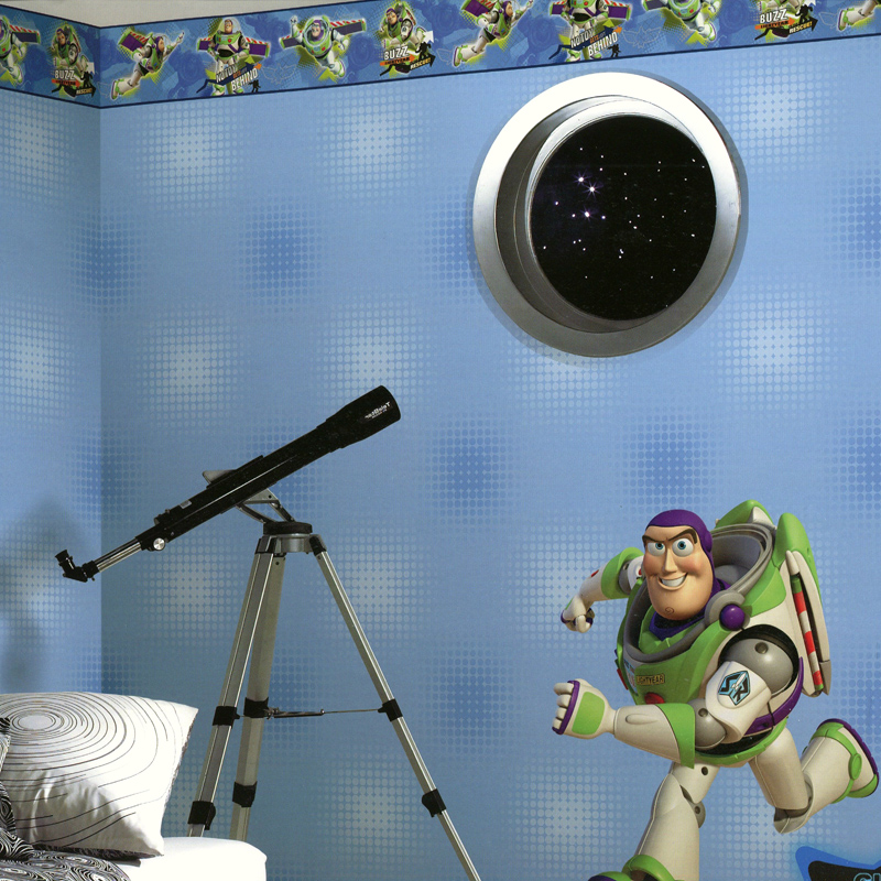 Disaiweisi wallpaper american disney disney cartoon children's room wallpaper cartoon astronaut