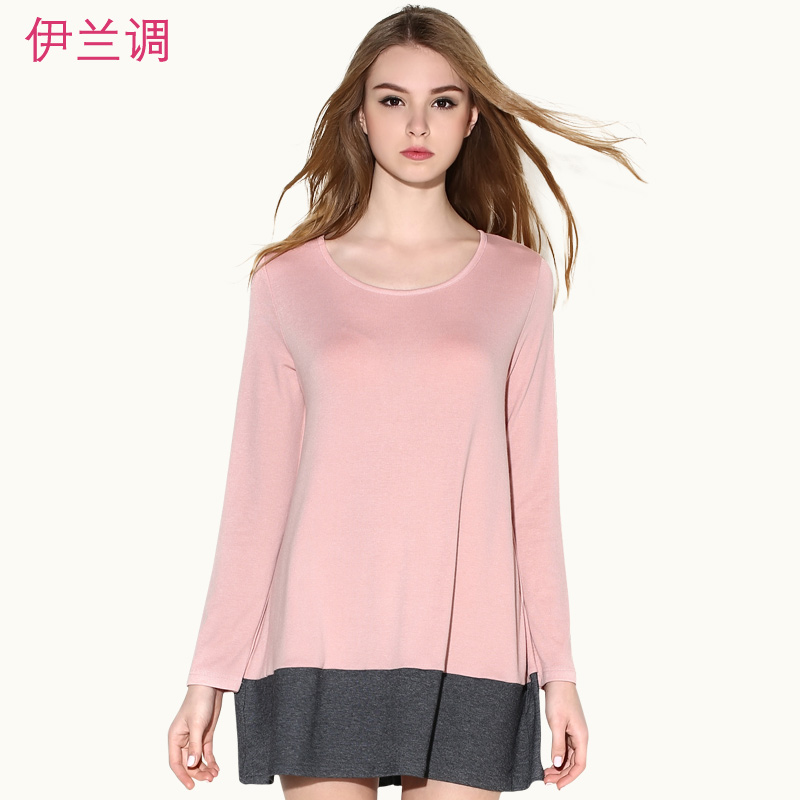 Discounted autumn new fertilizer to increase size women fat sister fat mm fat sister fake two piece long sleeve t-shirt