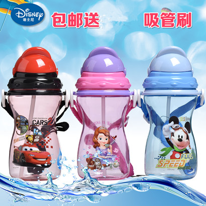Disney baby soft straw cup plastic cup cup of children summer straw cups plastic cups 493