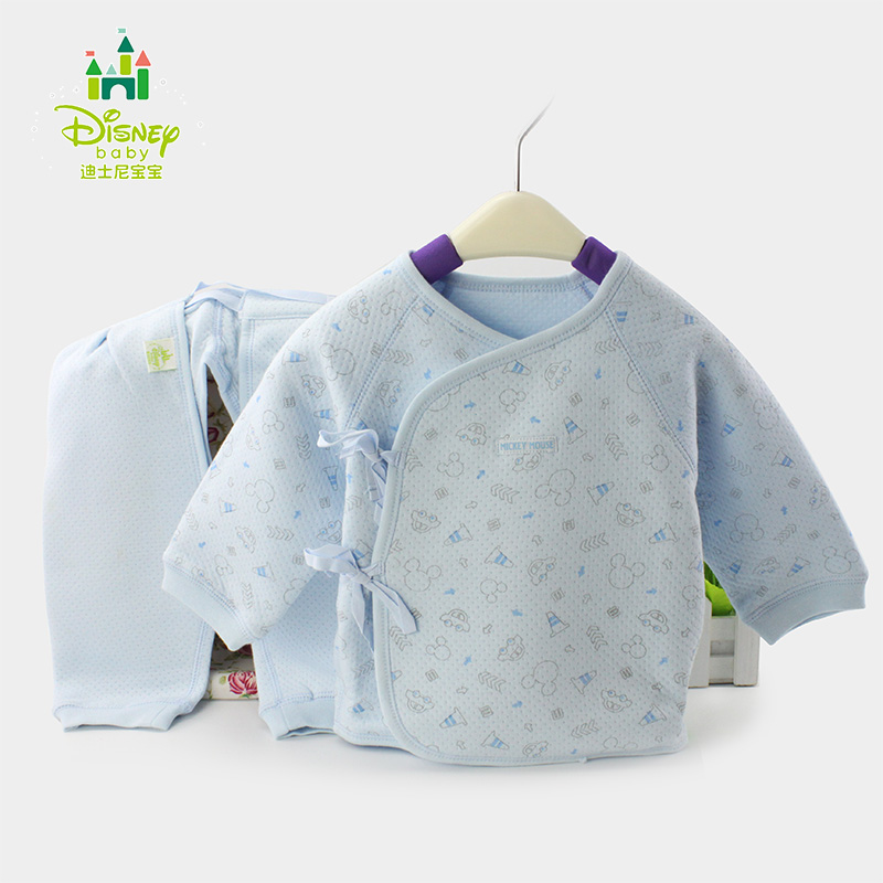 Disney baby xie jin lace underwear sets newborn baby thermal underwear sets spring and autumn paragraph