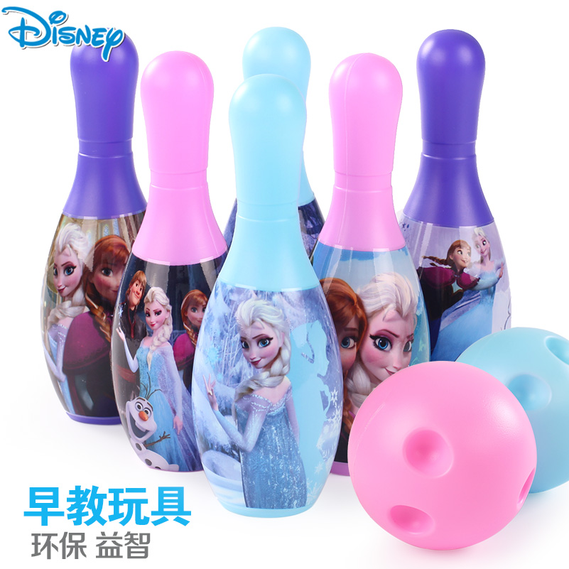Disney cartoon baby suit children's toys bowling bowling bowling large ice snow romance thanmonolingualsat toys