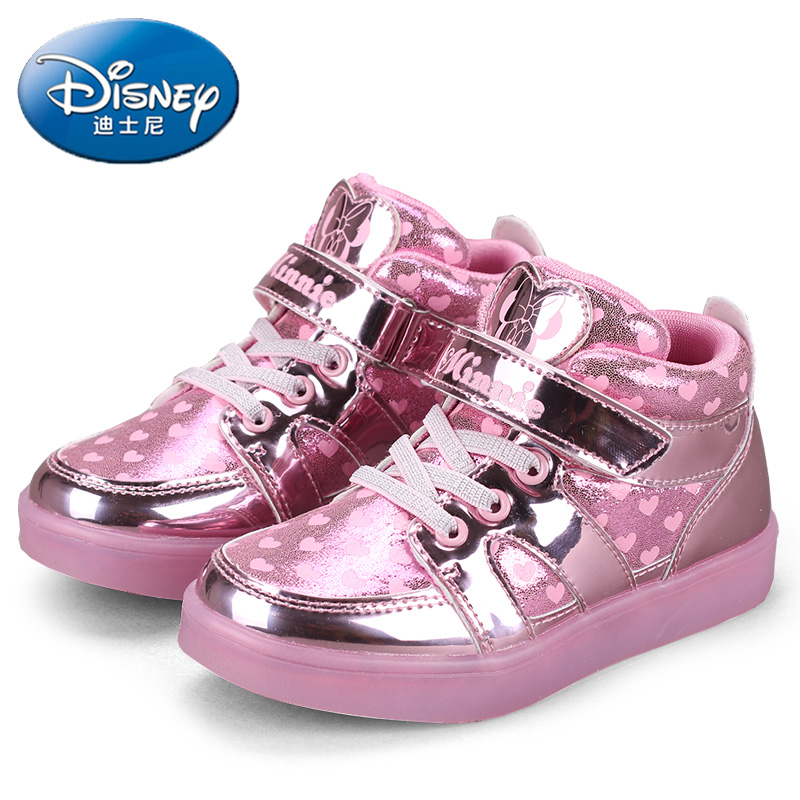 Disney children's shoes women sports shoes leisure shoes 2016 autumn girls sports shoes for children princess shoes flashing shoes