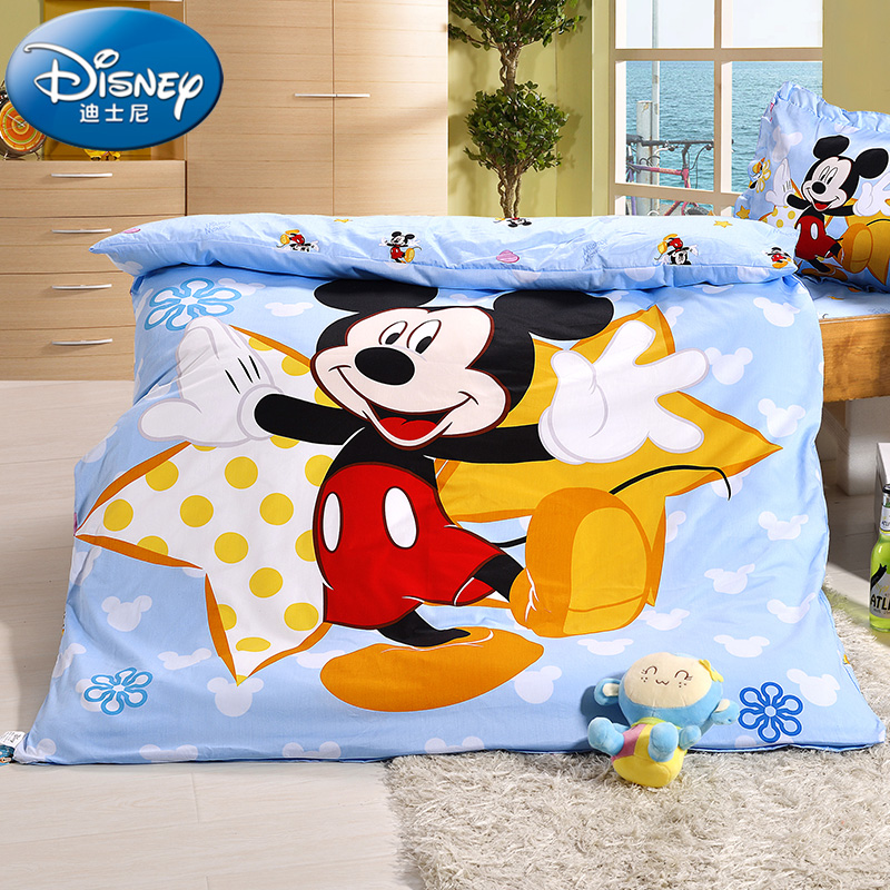 Disney/disney mickey cartoon baby cotton bed suite cotton containing core kindergarten two three four sets