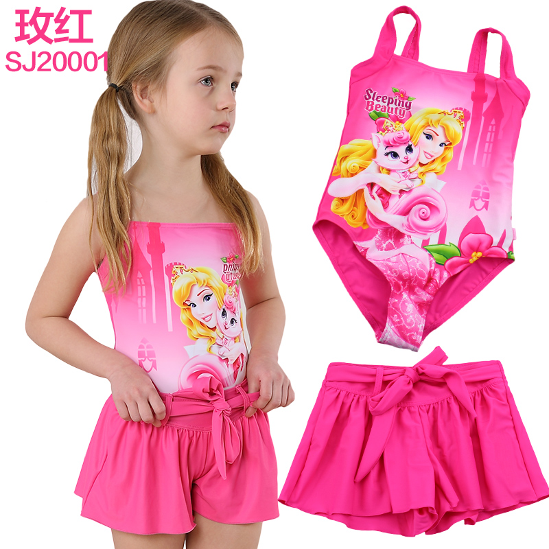 Disney (disney) princess children swimwear piece swimsuit girls two wear skirt style swimsuit