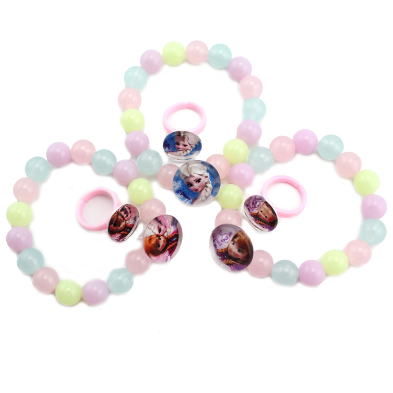 Disney frozen frozen snow princess baby bracelet ring suit girls children's jewelry ornaments
