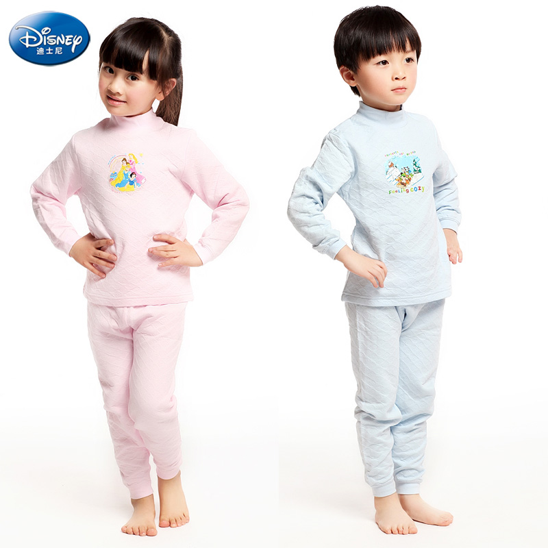 Disney girls cotton underwear for children within the winter baby clothes suit thick cotton thermal underwear boys