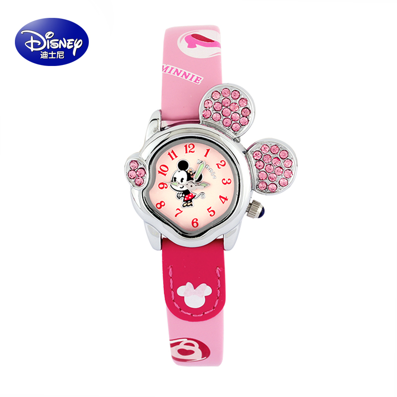 Disney girls watch cute cartoon girl child watches quartz watch students watch mickey table