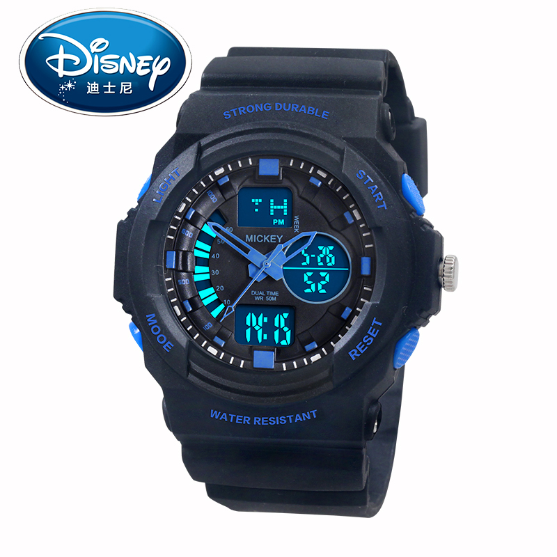 Disney mickey boy boy child watches luminous multifunction electronic watch waterproof watch male student movement