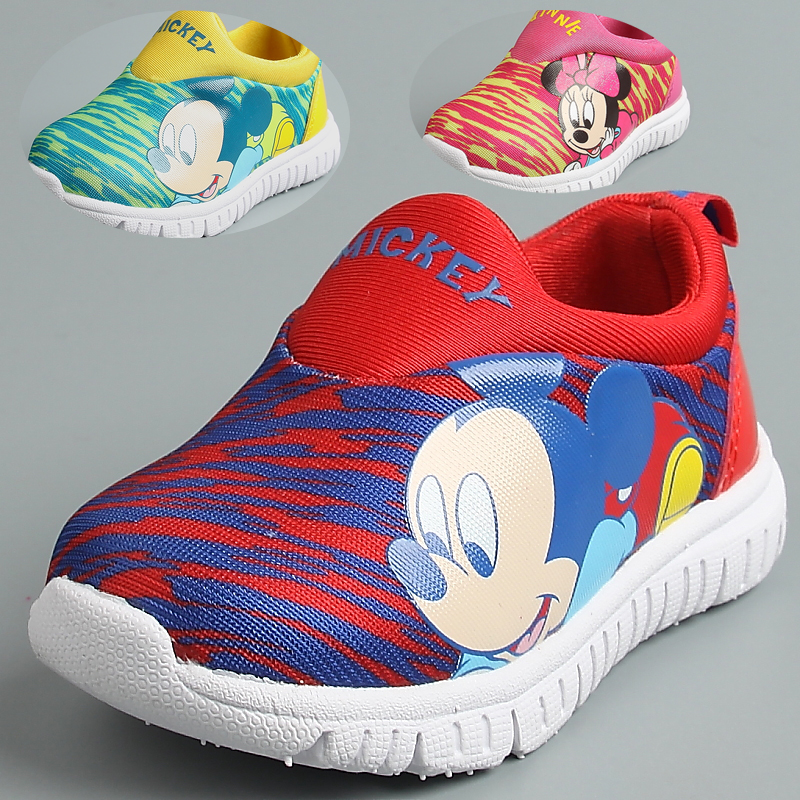 Disney mickey infants and young children canvas shoes spring baby shoes sneakers running shoes sneakers for men and women