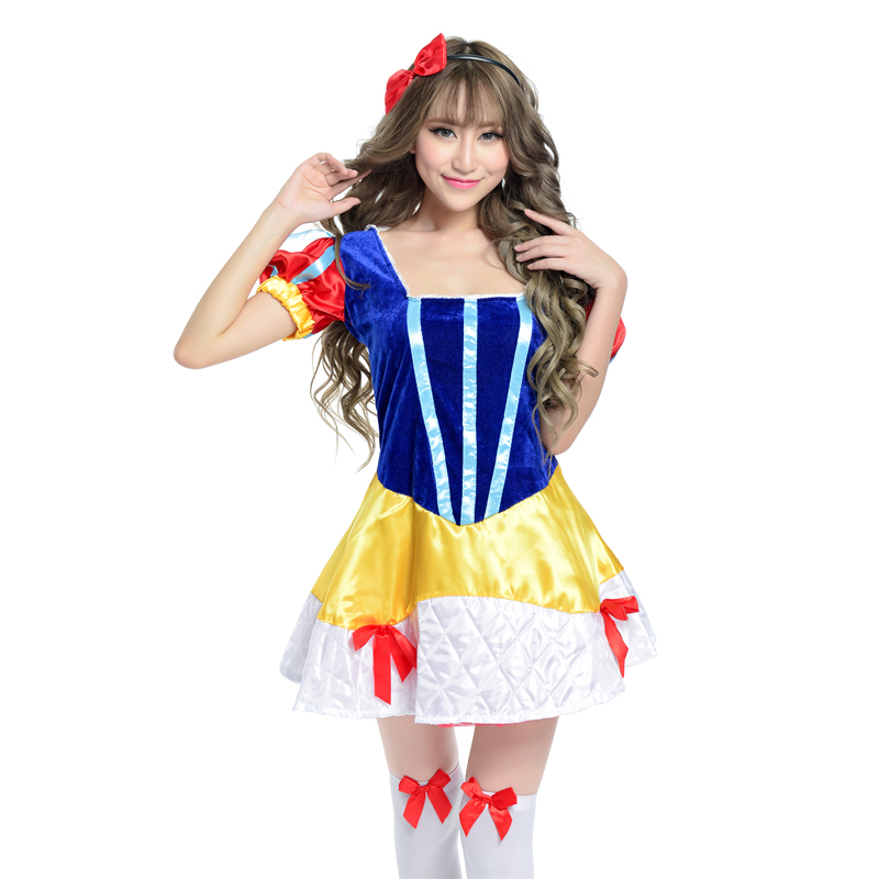 Disney snow white dress adult snow white dress stage costumes cosplay costume halloween