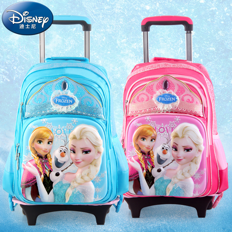 3dc4e012b7d Get Quotations · Disney trolley bags primary school children trolley bag  shoulder bag for girls frozen SP20228