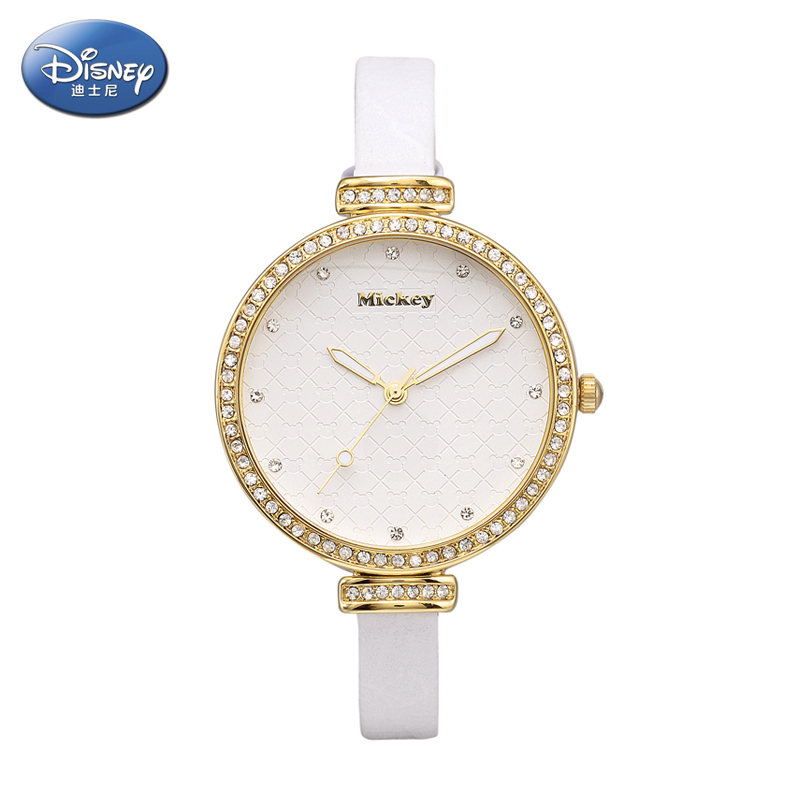Disney watches female korean fashion female form large dial student quartz watch fashion watch korean version of the belt