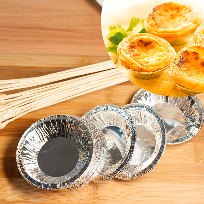 Disposable aluminum foil tart mold aluminum foil heat baking mold tart mold tart bottom bracket 110