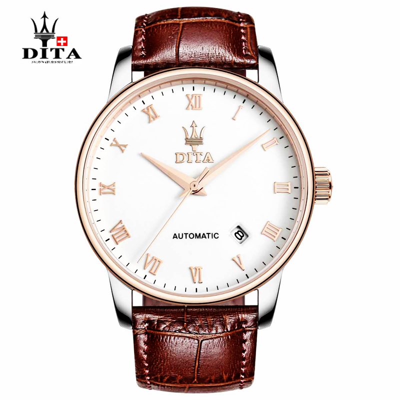 Dita new authentic automatic mechanical men watch waterproof leather business men hand wrist watches belt fashion trend