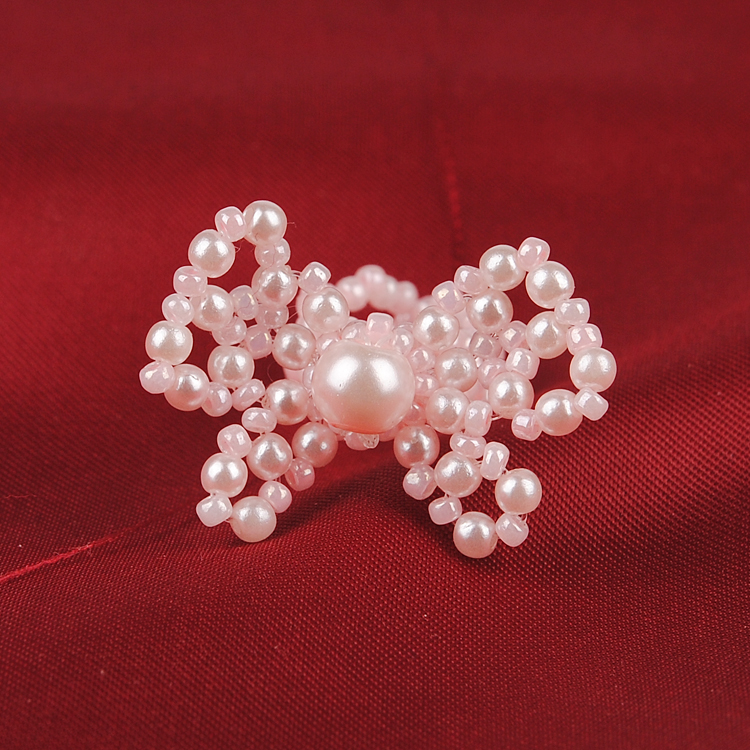 Diy handmade beaded jewelry material abs imitation pearl ring tail ring bow gift bags jewelry original