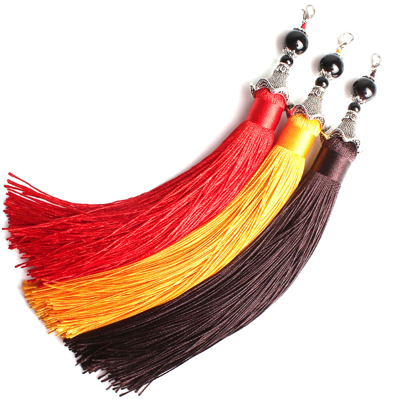 Diy jewelry accessories handmade chinese knot tassel hanging ear tassel pendant beads bracelets bag hanging jushi