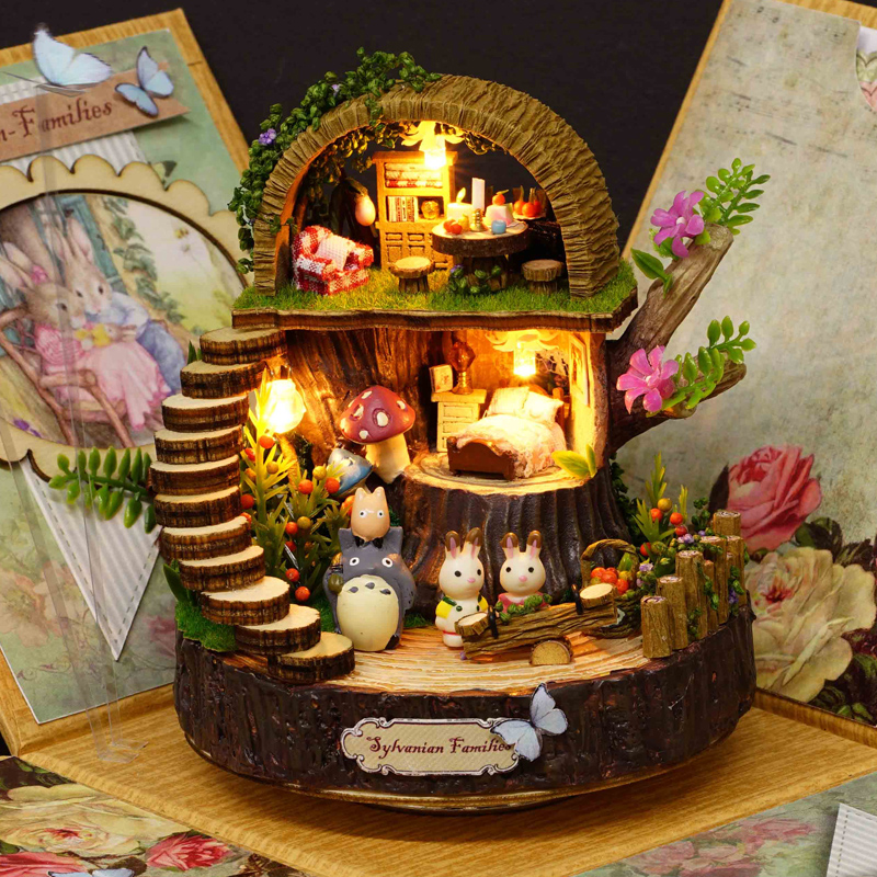 Get Quotations · Diy rotating music box music box laputa totoro fantasy  forest creative student day gift ideas girlfriends 50898a9a80