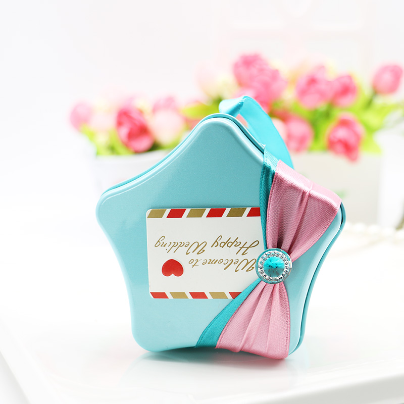 Diy star refined sugar candy box candy gift tin candy box candy box wedding candy box wedding candy box