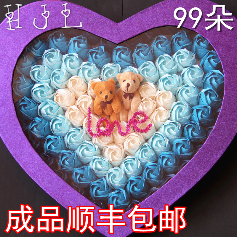 Diy99 manual kawasaki rose finished origami gift box/paper flowers material bag christmas valentine's day birthday gift