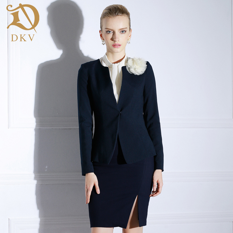 DKV2016 new fall fashion ol commuter women wear women's skirt suit suit overalls autumn