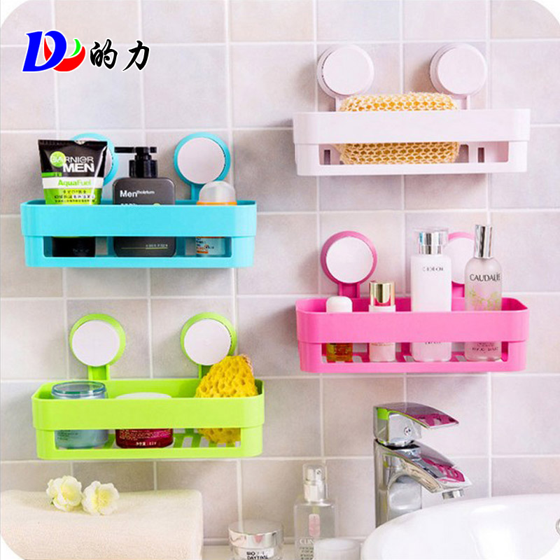 Dl/force t powerful suction toilet bathroom shelf bathroom wall bathroom shelf bathroom jiaojia basket rationale