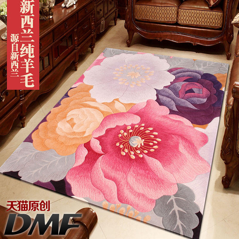 Dmf new zealand imported handmade wool carpet living room simple and stylish living room coffee table bedroom carpet customized