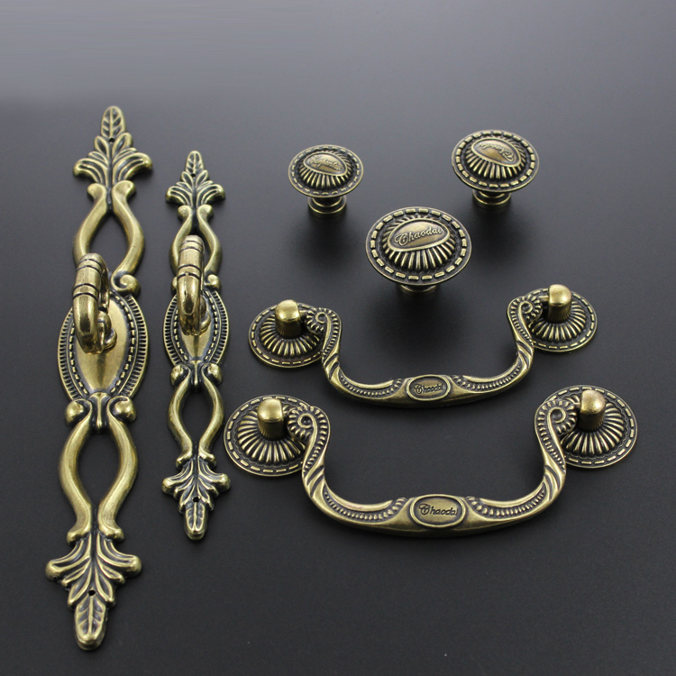 Document cd antique bronze handle european antique cabinet drawer wardrobe door handle furniture handle