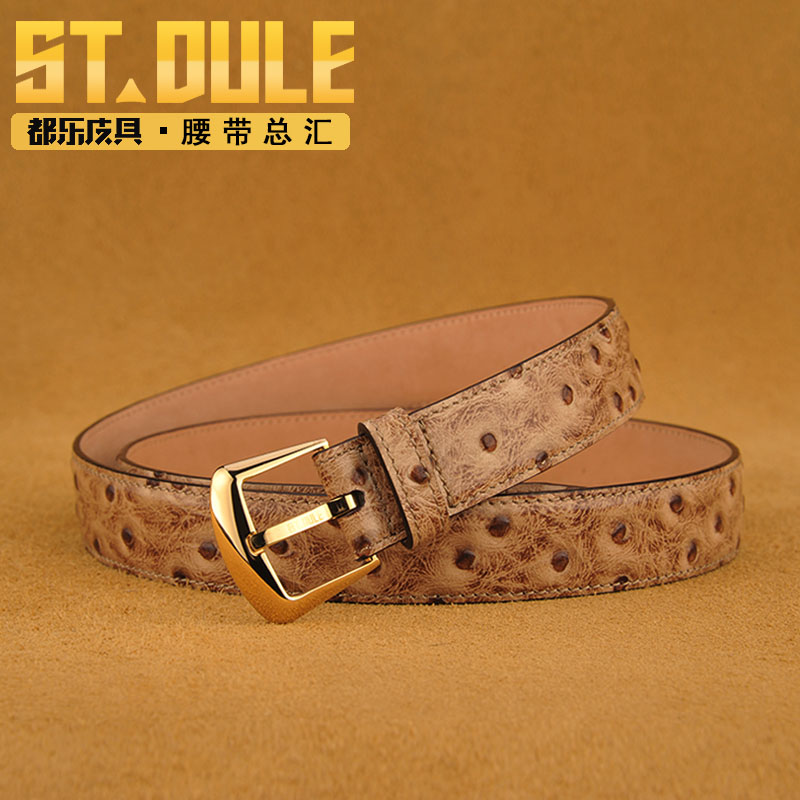 Dole counter genuine embossed leather ladies fashion belt buckle gift girlfriend wise elegant