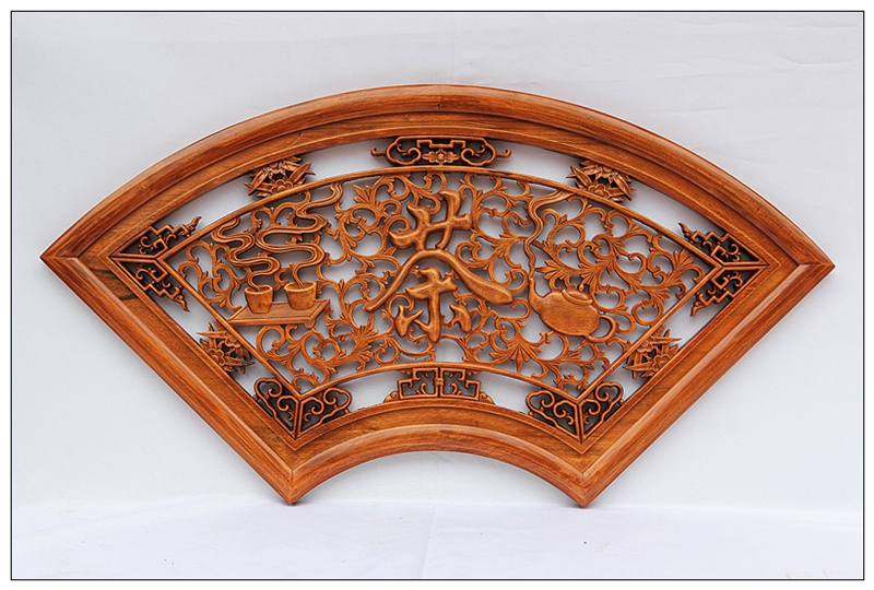 Dongyang wood porch chinese home decoration pendant carved camphor wood decorative wall hanging decorations living room craft ceremony
