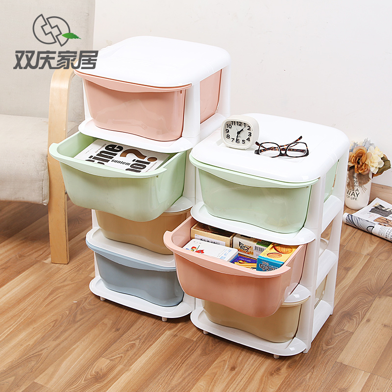 Double celebration plastic drawer storage cabinets cabinet finishing cabinet storage box storage cabinets children's clothing material storage box finishing cabinet