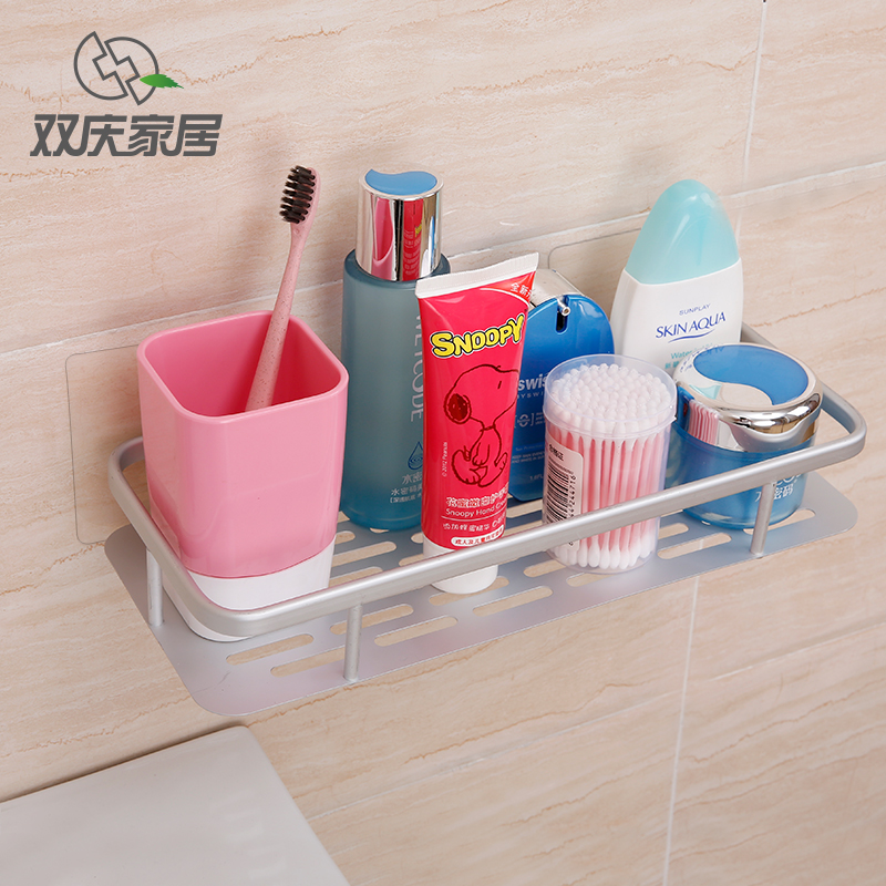 Double celebration powerful suction cup suction wall bathroom shelf bathroom shelf shelving storage rack toilet toilet shelving racks
