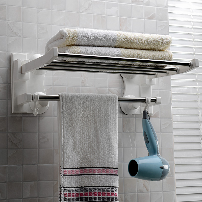 Double celebration sucker three generations 1905 40 centimeters sucker strong suction cup racks folding towel rack towel rack