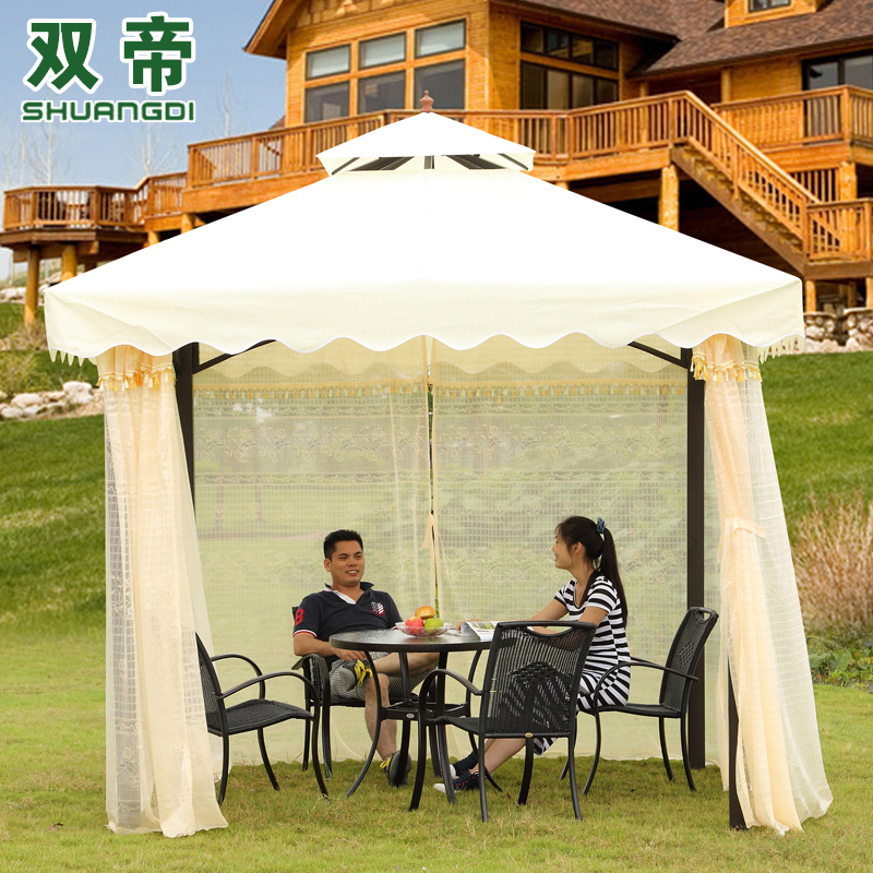 Double di european courtyard gazebo tent outdoor tent outdoor patio awning canopy tent rome