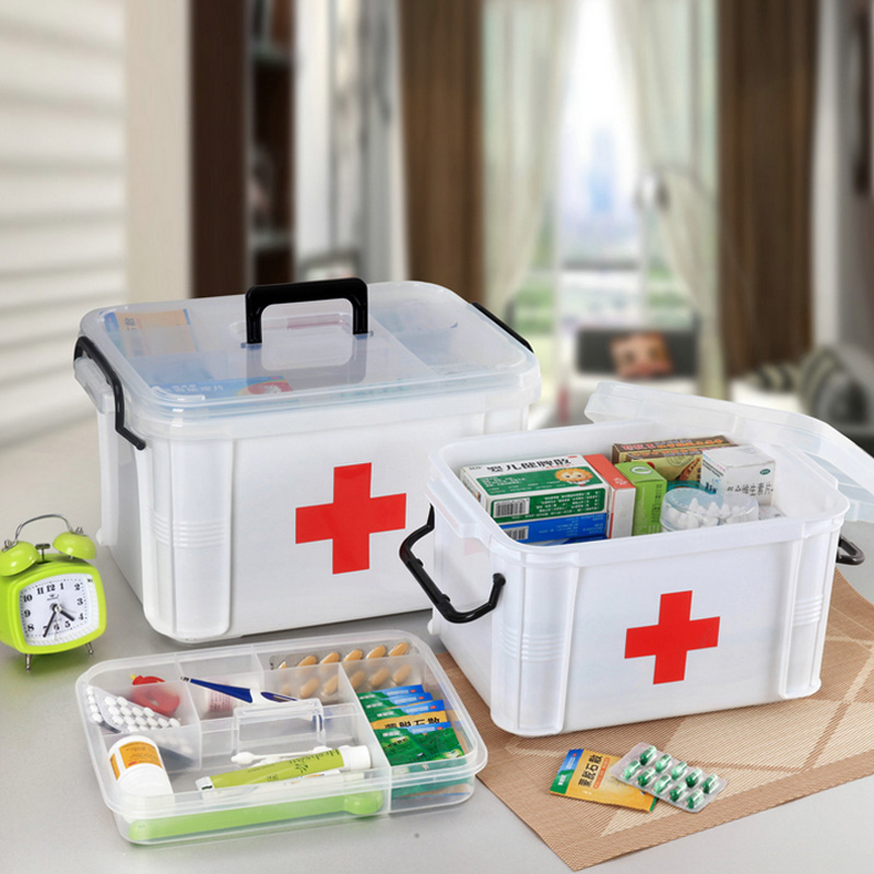 Dr. accommodating large family medicine cabinet multilayer storage of medical emergency medical kit home medicine chest