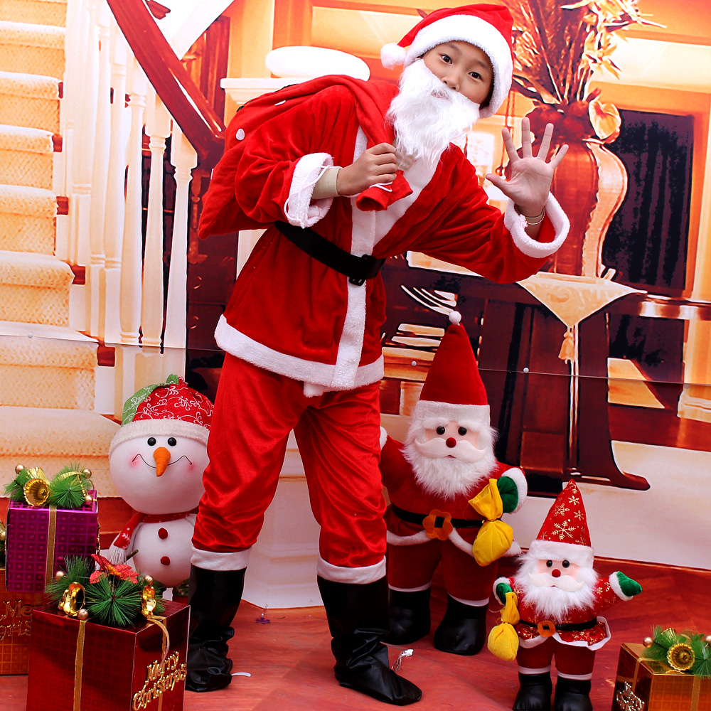 get quotations dream art christmas santa claus costume dress christmas costume santa claus clothes suit boys and girls