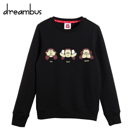 Dream bus shou wu cute cartoon autumn paragraph mouth monkey lovers hedging round neck sweater yncp 142
