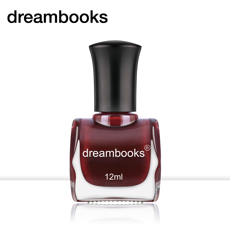 Dreambooks green oily toxic burgundy nail polish lasting retro color dark red cherry 12 ml