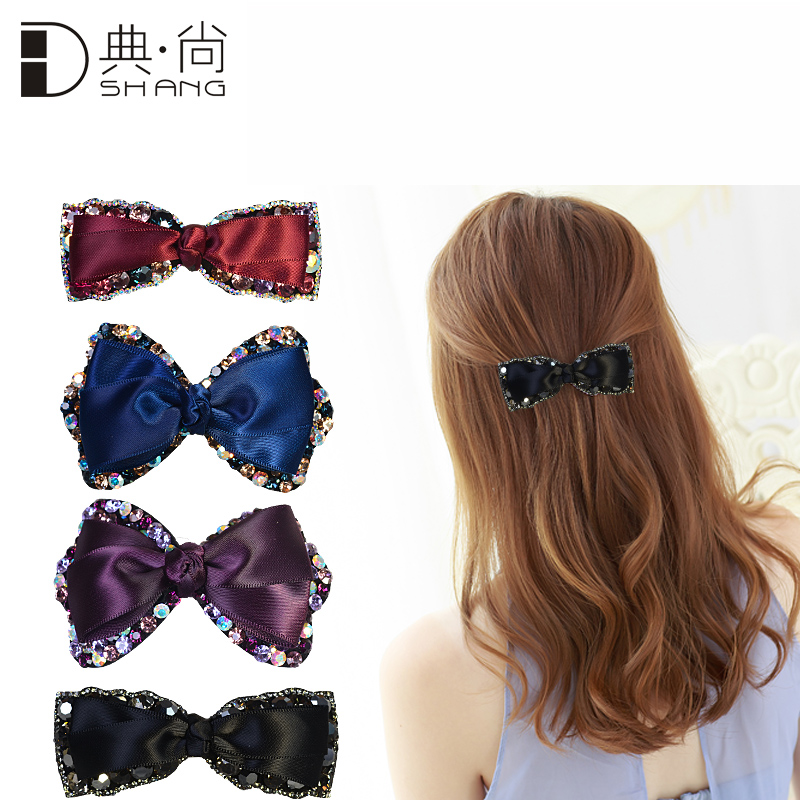 Dshang/code · shang fabric crystal bow hairpin top folder collet hairpin korean hair accessories hair accessories chuck