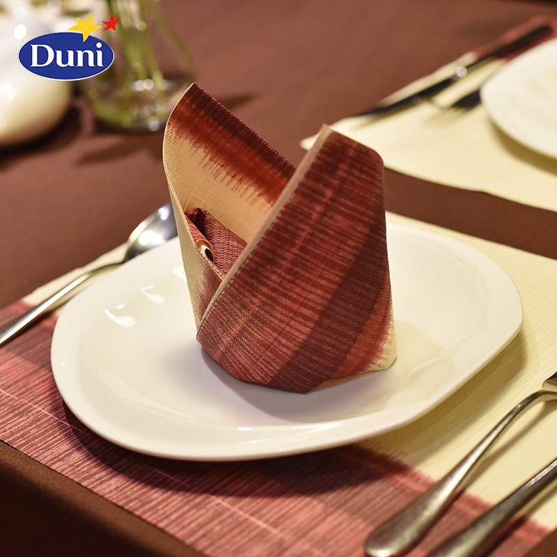 Duni duni creative square 40*40 imported raw wood pulp paper napkin color restaurant table napkin 50 pcs