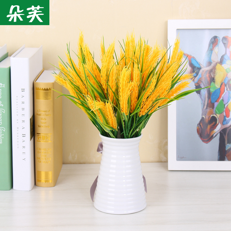 Duo fu simulation flower garden plant wheat paddy rice farm restaurant off clothing decorative flower artificial flower plastic flower