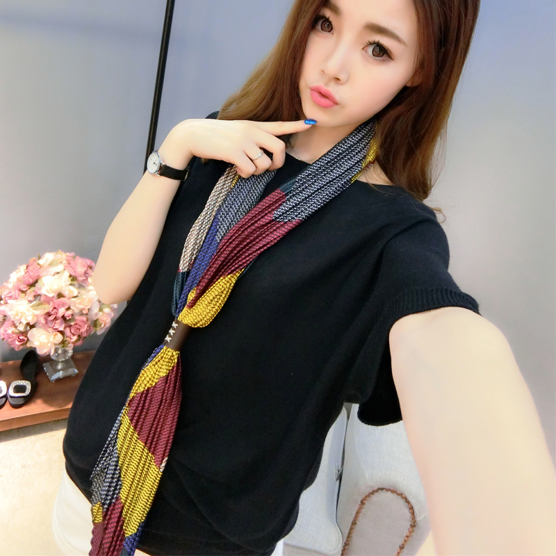 Duo of hundreds of millions of respect for occupational small square scarves printed silk summer paragraph korean women wild wai scarf scarf small scarf