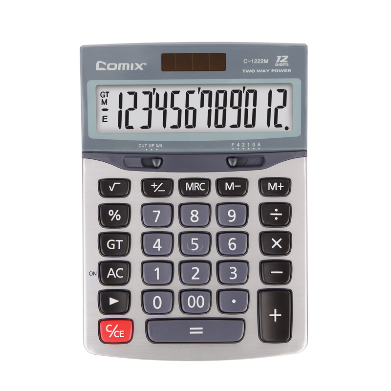Durable metal surface big button calculator computer office business calculator simple and stylish black edition