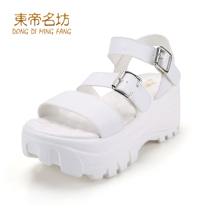 East timor were square summer new women's sandals high heels waterproof shoes thick crust muffin sandals female summer