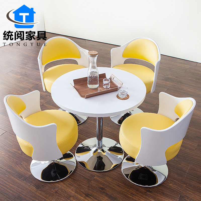 Ec read shanghai office furniture sales office reception desk round table negotiating table casual coffee table small table and chairs and chairs