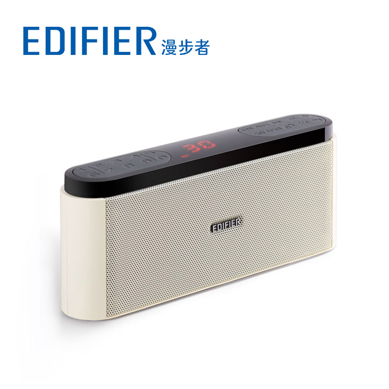 Edifier/cruiser m19 mini portable fm radio small speaker sound card in older outdoor