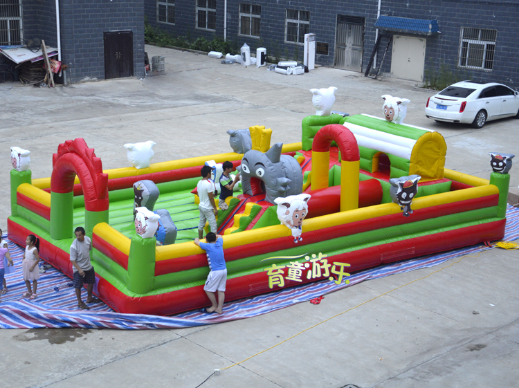 Educating children large inflatable trampoline, inflatable castle inflatable toys, children's inflatable bounce, inflatable trampoline