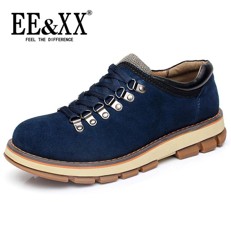 Eexx new leather outdoor sports shoes casual shoes nubuck leather men's shoes trend of the bulk of tooling leather shoes 2016 2731