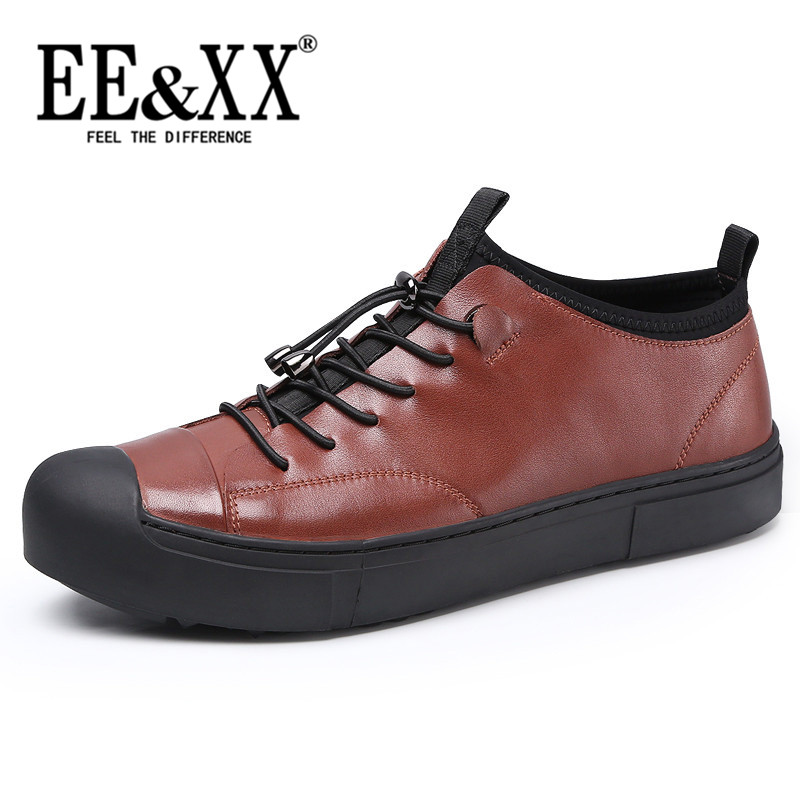 EEXX2016 fashion business casual leather shoes tide of england men's lace shoes thick bottom shoes to help low shoes 3126
