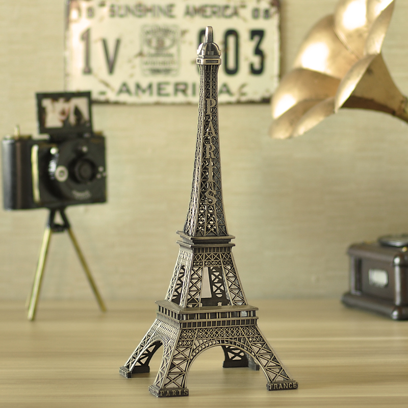 Eiffel tower model home decorations living room tv cabinet modern office desktop ornaments creative wine